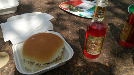 Zebraburger and Chilled Baobab Drink:actualy better then I thought!